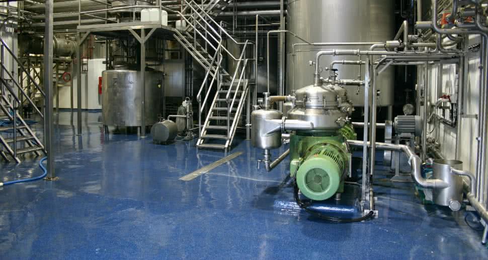 seamless dairy facility floor