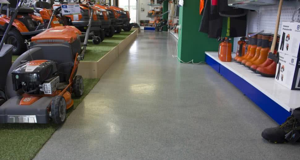 Non slip garden centre flooring