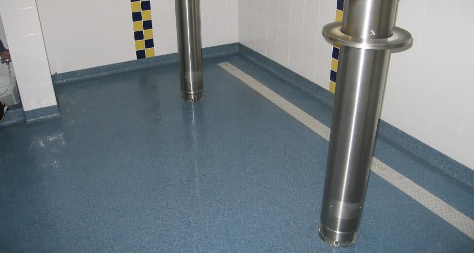 Sports facility shower flooring