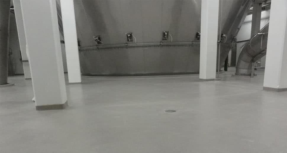 Dairy production facility floor