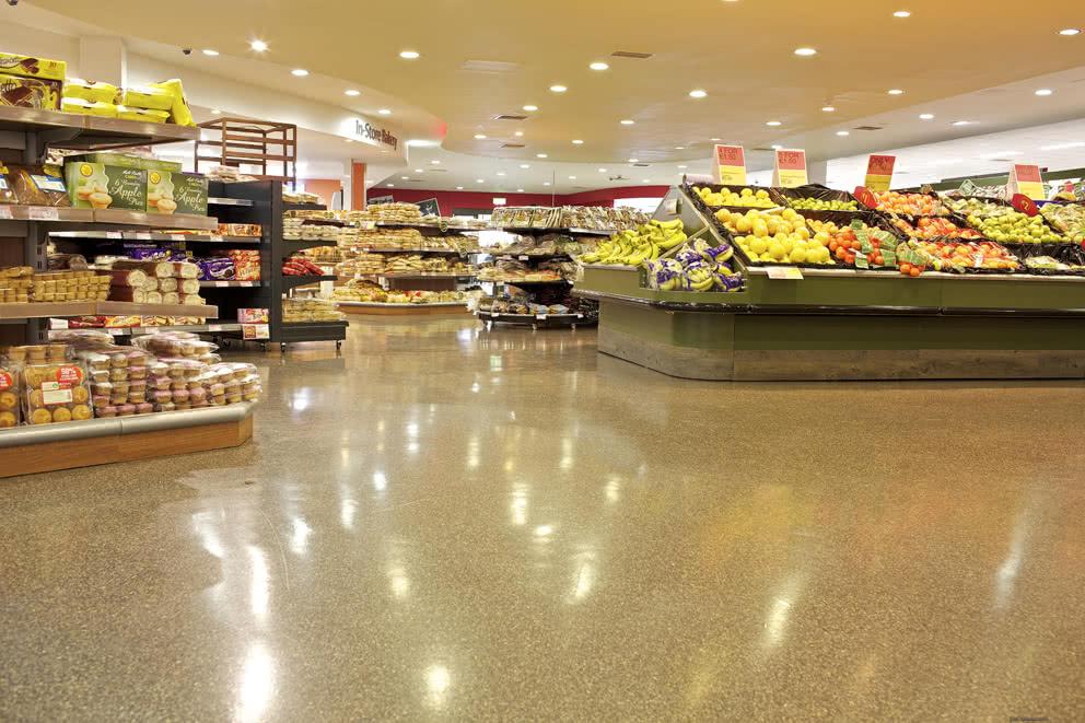 Reflective, Anti Skid Supermarket PMMA Flooring Solution