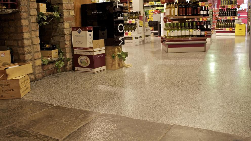 Retail anti skid supermarket floor