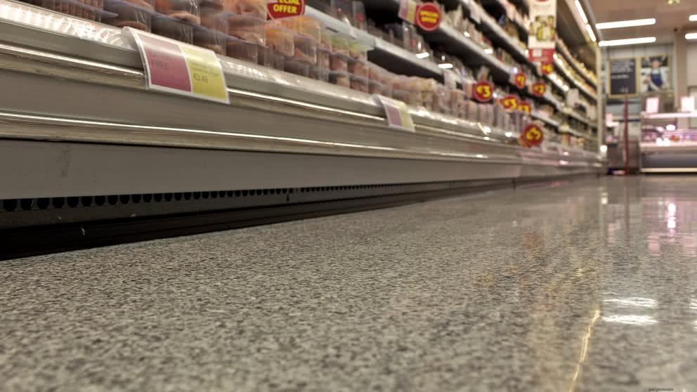 Non porous supermarket resin flooring