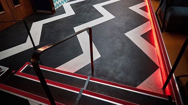 Night Club flooring, commercial resin floors.