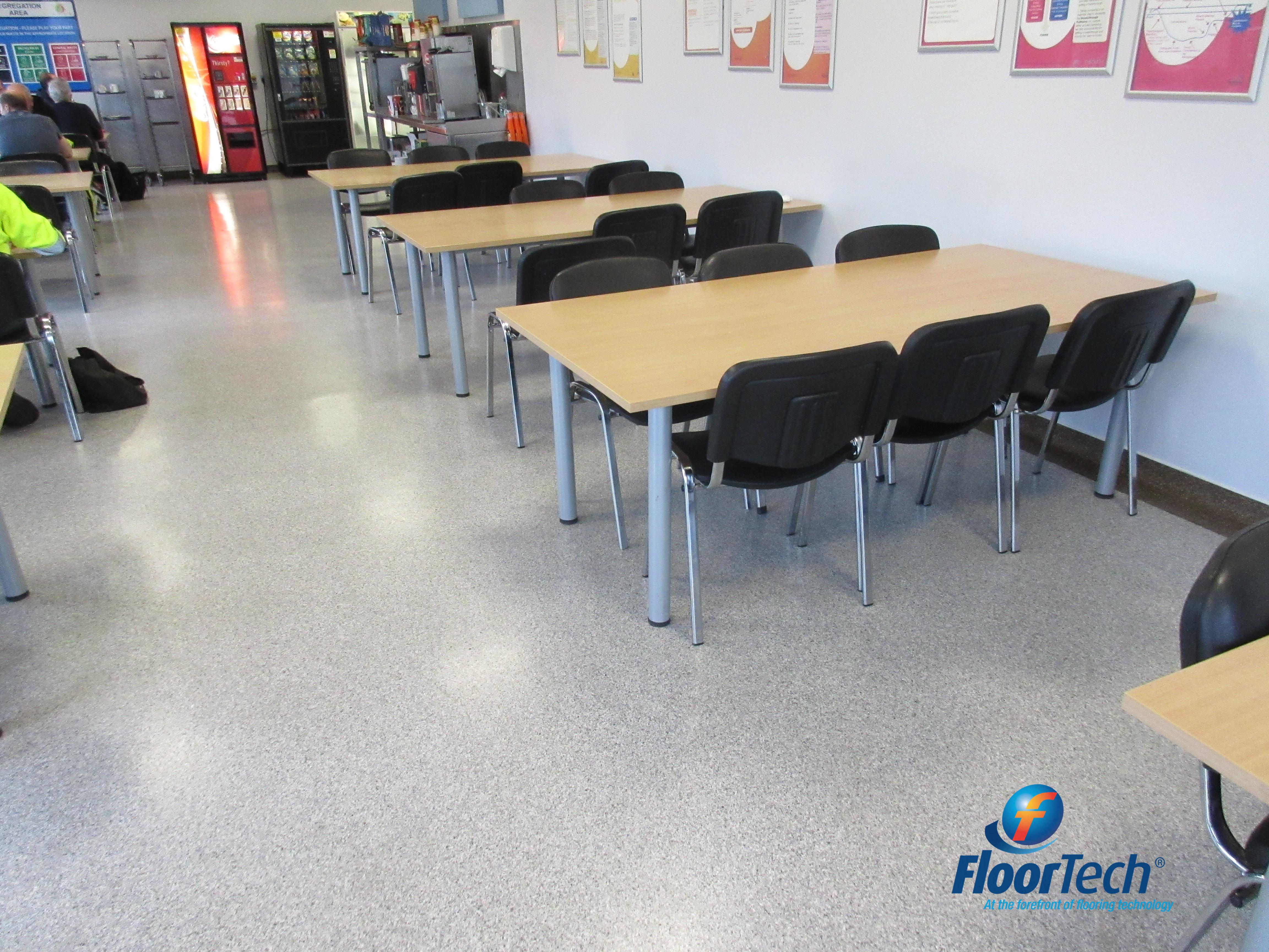 Non slip canteen floor