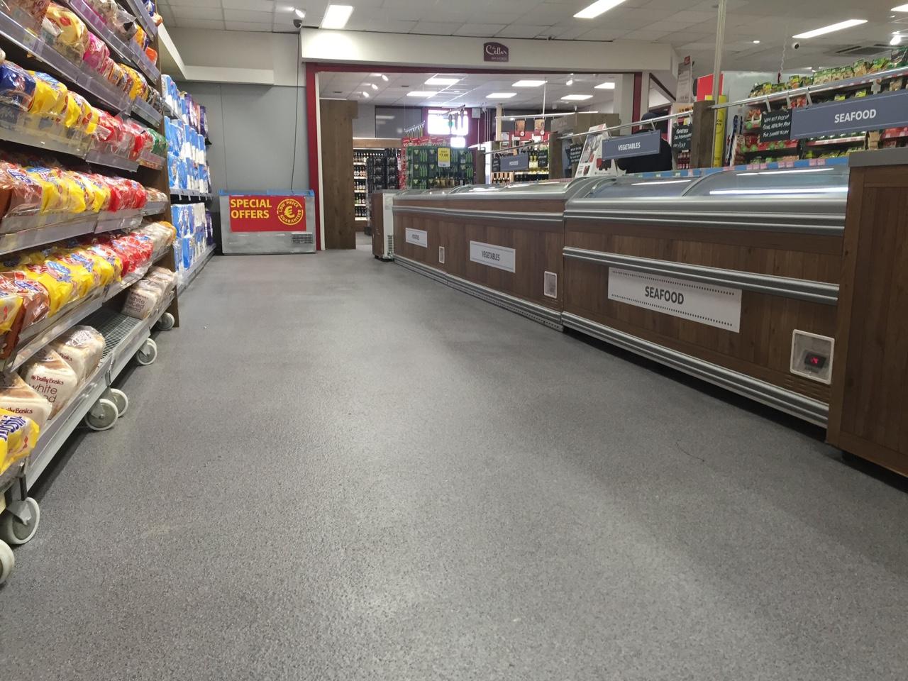 Supermarket non slip flooring